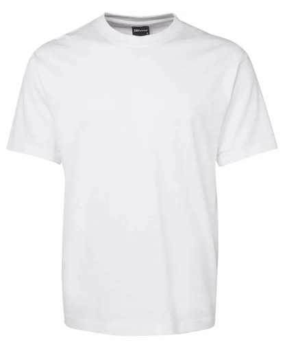 Round Neck T Shirts - White