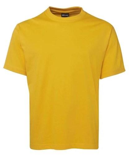 Round Neck T Shirts - Gold