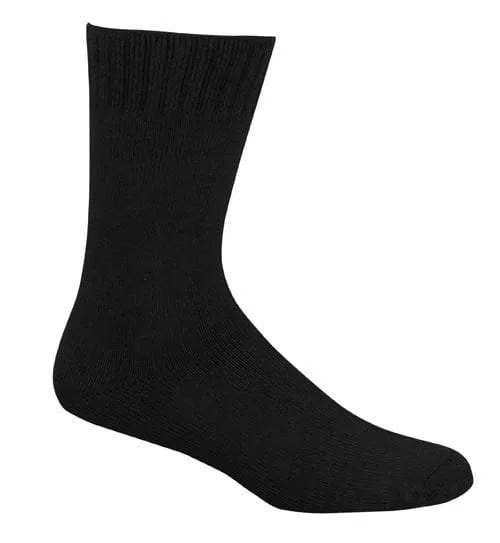 Bamboo Extra Thick Work Socks-Size 4-18 -Black