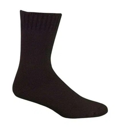 Bamboo Extra Thick Work Socks-Size 4-18 -Chocolate