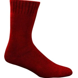 Bamboo Extra Thick Work Socks-Size 4-18 -Queenslander Maroon