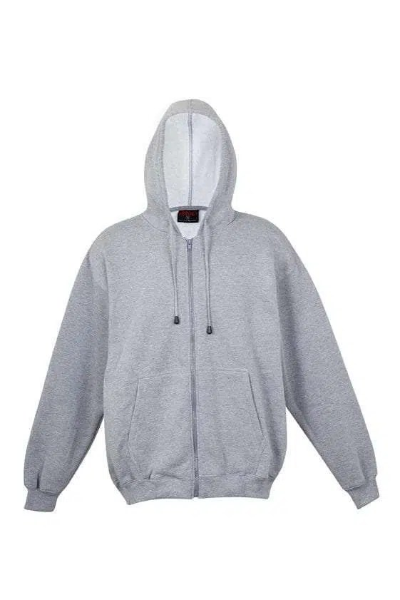 Kangaroo Pocket Hoody Full Zip Grey_Marle