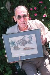 Anitta Cobby's father Garry lynch, who has written a book telling how he dealt with grief. The drawing in this photograph was completed by Anitta only two days before she was brutally murdered and Garry believes there are symbols within, that suggest she knew the end was near.