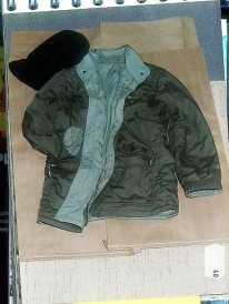 he bloodstained jacket worn by Peter Dupas on the day he murdered psychotherapist Nicole Patterson in her home.