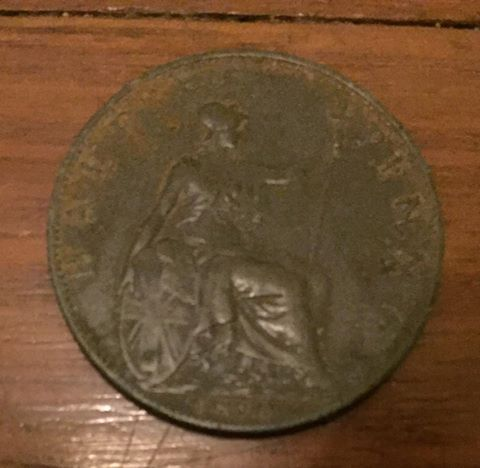 1896 half penny