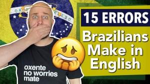 15 errors brazilians make in english