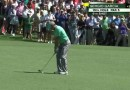 TOUGH WATCH / Sergio Garcia hits five golf balls in the water on 15 at The Masters