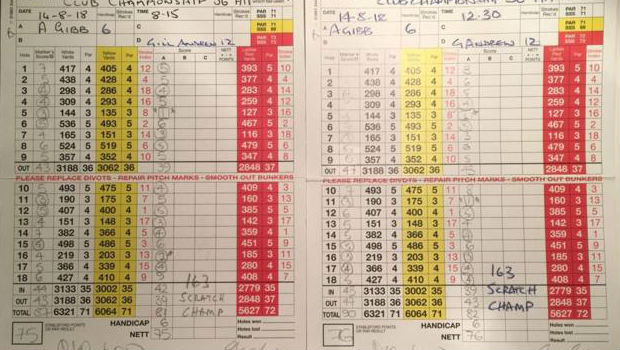 English amateur golfer cards three holes-in-one during 36-hole club champs