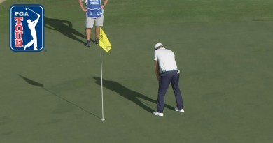 Bryson DeChambeau is true to his word and is putting with the flagstick in