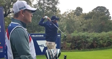 Why is Marc Leishman talking about milk on Twitter?