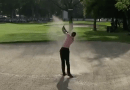 Tiger Woods winds back the clock with epic fairway bunker shot