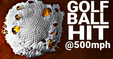 Crazy science experiment shows how hard can you hit a golf ball: video
