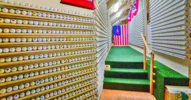 Check out this guy's incredible golf ball collection