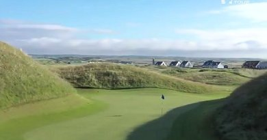 Check out the wonderful, blind par-3 at Lahinch Golf Club in Ireland