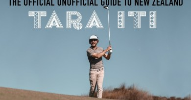 Erik Anders Lang shows off the beautiful, unpretentious Tara Iti Golf Club