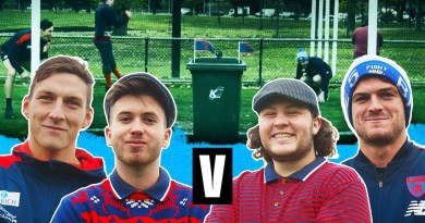 Melbourne Demons duo play this odd game of footy golf