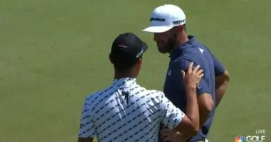 Kevin Na explains match play rules to Dustin Johnson and he wasn't happy