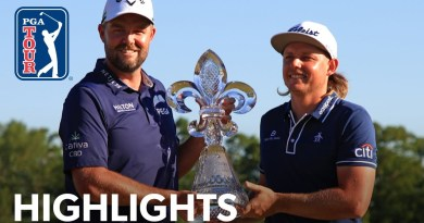 Marc Leishman and Cameron Smith survive playoff to claim Zurich Classic of New Orleans