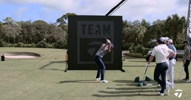 DJ, Tommy, Rory and friends take on the TaylorMade Flop Wall