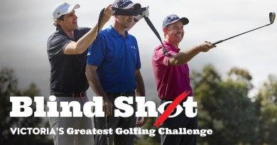 """Watch Andy Lee, Geoff Ogilvy and Todd Woodbridge hit """"blind"""" golf shots"""