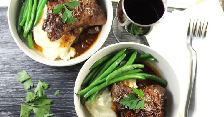 Keto Lamb Shanks Slow Cooked, Cauli Mash & Green Beans