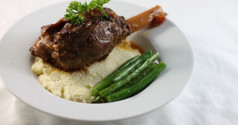 Keto Slow Cooker Lamb Shanks, Cauli Mash & Green Beans