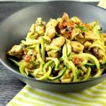 Keto pesto chicken, keto quick meal, keto 30 minute meal, keto zucchini noodles