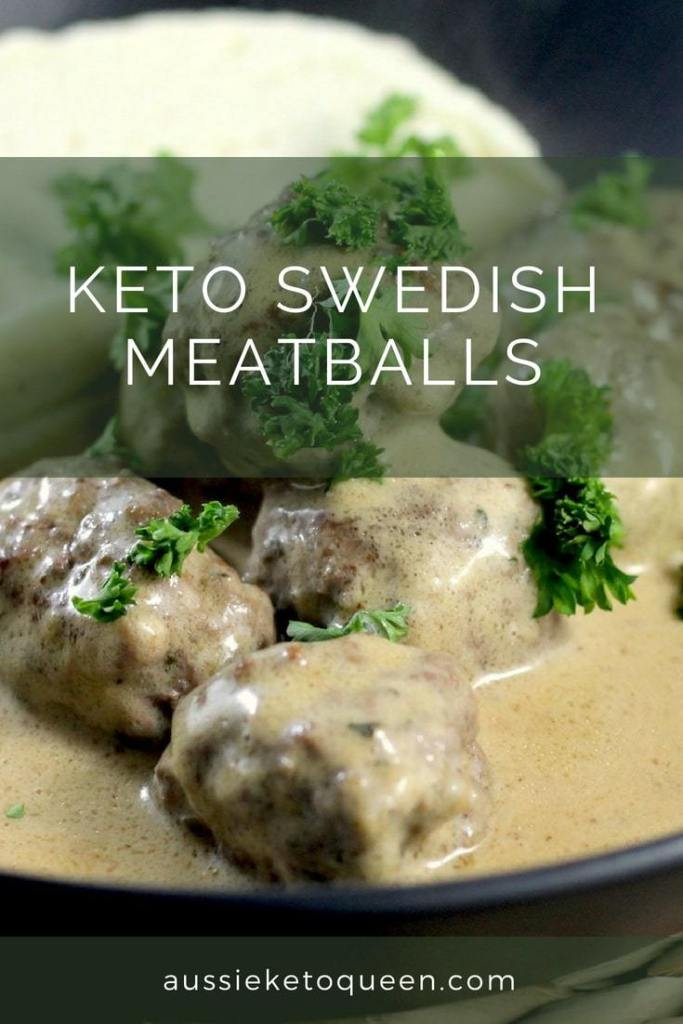Tasty and Moist Keto Swedish Meatballs served with an amazing Keto Gravy, and of course with the required smooth keto mash - made with cauliflower! This is a special Keto dish that is great for entertaining and perfect in fall. #keto #ketorecipes #ketogenicdiet