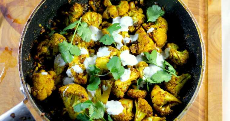 Keto Indian Roasted Cauliflower