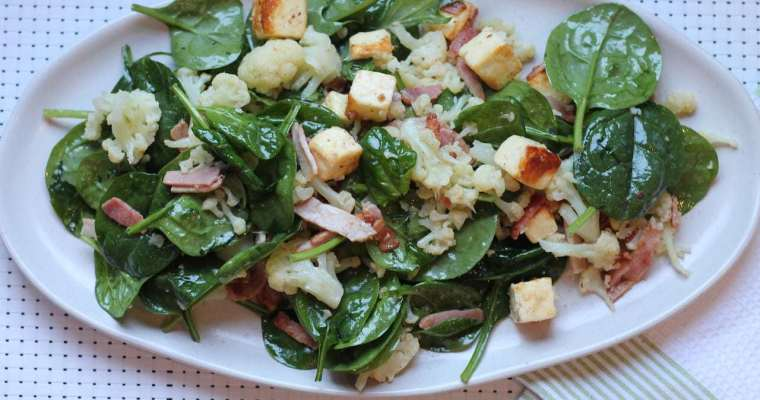 Keto Halloumi Salad with Cauliflower