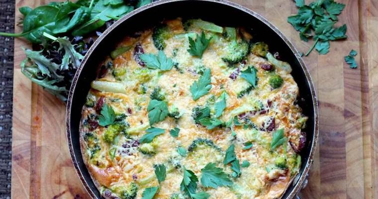 Keto Chorizo Frittata with Broccoli