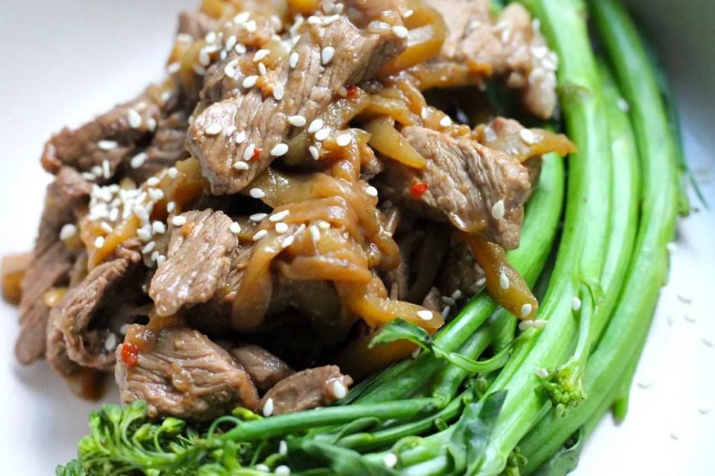 Keto Steak Stir Fry with Eggplant