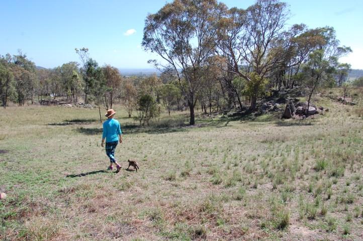 Sie ist uns übers ganze Grundstück auf den Fuß gefolgt, trotz der Hitze.