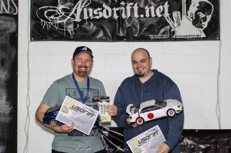Round 2 AWD 1st place: Noel Gettingby & 2nd place: Andrew Marriott, Photo: Craig Jacka