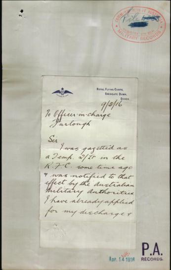 Original letter from Alan from Dover