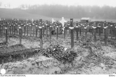 Heiily Station Cemetery Mericourt L'Abbe Somme France December 1916 - AWM