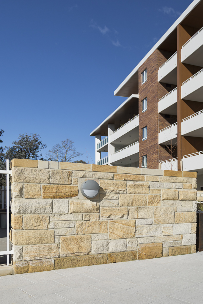 Aussietecture Stone Walling in a residential exterior feature wall
