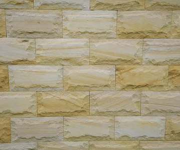 Rock face sandstone walling