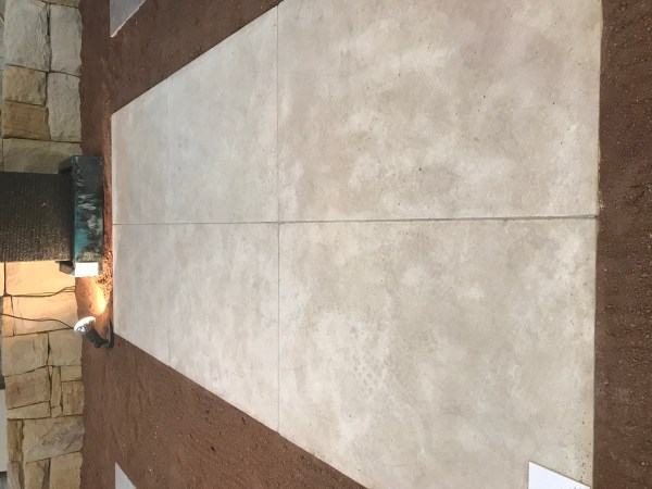 large size Appin limestone tiles display in Aussietecture Stone supplier Alexandria, Sydney showroom