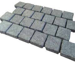 Aussietecture Black cobblestone flooring, granite square pavers.
