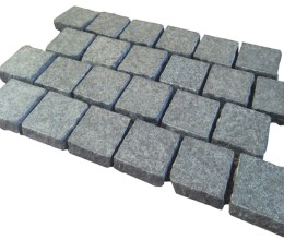 Aussietecture Black cobblestone flooring, granite square pavers