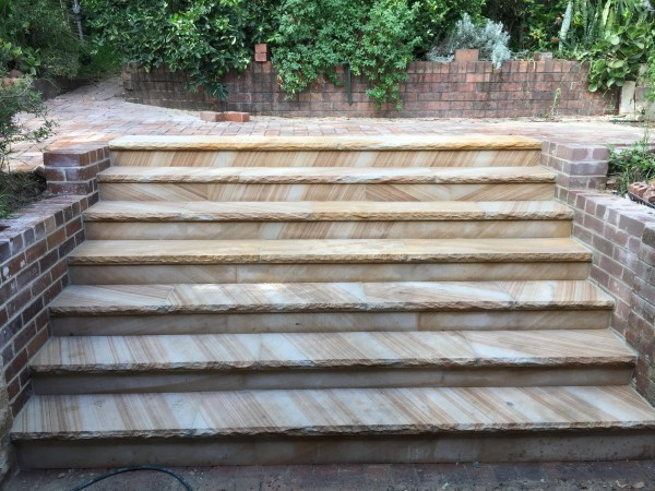 Stone stairs and stone capping using Australian local source sandstone