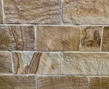 Aussietecture kirra ranch wall cladding stone, split surface Australian sandstone