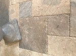 Aussietecture Oberon flooring stone, Marble tiles and pavers with brushed surface with chipped edge