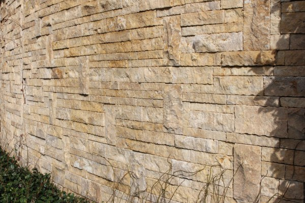 Exterior Stone wall clad with Aussietecture Colonial Simpson stone wall claddings