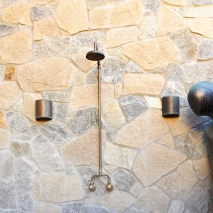 Tilpa irregular crazy walling stone in an interior featured wall project, irregular shape, mixed granite