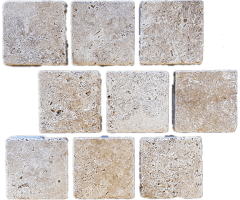 Natural stone landscaping capping paving garden edging - Travertine cobble stone