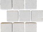 Limestone cobblestones in a pattern shape