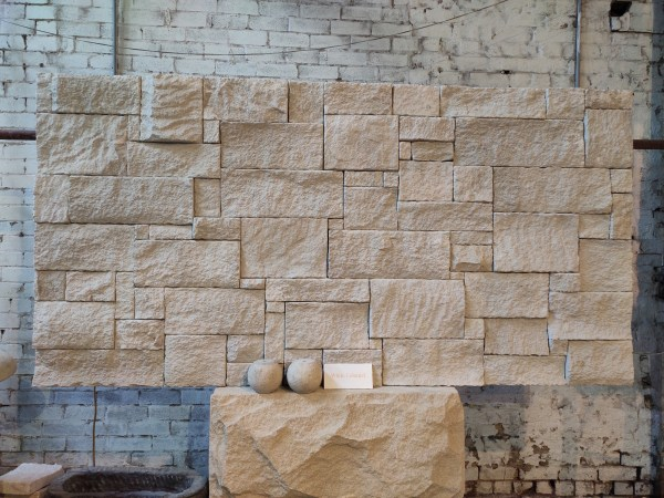 Colonial white sandstone walling seen in Sydney shop of Aussietecture stone supply