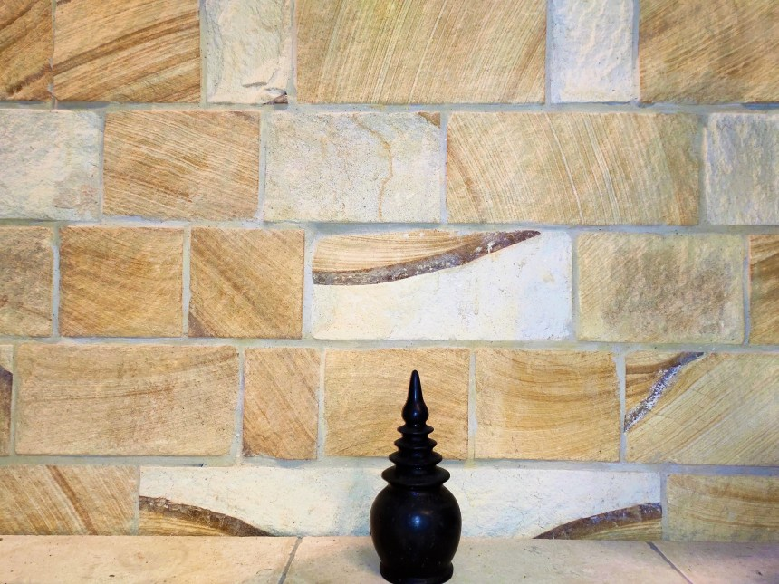 Aussietecture Kirra ranch sandstone walling in a residential interior feature wall application